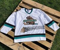 Vintage Utah Grizzlies Starter Sweater Hockey Jersey IHL Size XL