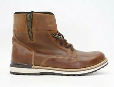 Buckle x GBX Mens Drift Tan Brown Leather Lace Mid Boots Size US 9 EU 42