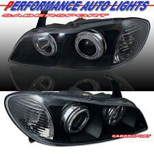 DUAL HALO PROJECTOR HEADLIGHTS BLACK HALOGEN TYPE FOR 2000-2001 INFINITI I30