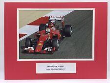 RARE Sebastian Vettel Ferrari F1 Signed Photo Display + COA AUTOGRAPH