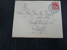 Nederland 60 op brief Middelburg - Delft 1914