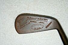 Vintage Al Lesperance Hickory Shafted Mid Mashie/ Original Leather Grip.VG/Exc !