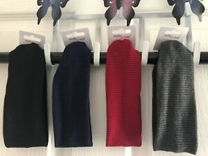 Cotton Rich Jersey stretch Ribbed Yoga Headband 4 Colours 6cm wide