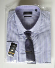 Cotton Blend Striped NEXT Button Cuff Formal Shirts for Men