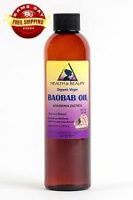 BAOBAB OIL UNREFINED ORGANIC EXTRA VIRGIN COLD PRESSED PRIME FRESH PURE 8 OZ