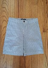 NWT Ralp Lauren Boys Shorts Blue White Stripe Seersucker Sz 6