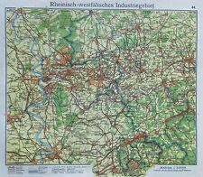 Rheinisch Westfälisches Industriegebiet - alte Karte Landkarte aus 1922 old map