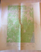 Vintage 1963 Topographic Folded Map Bark River Michigan