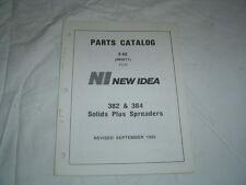New Idea 382 384 solid plus manure spreader parts catalog manual