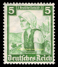 EBS Germany 1935 Nothilfe - Regional Costumes - 5+3 Pfennig - Michel 590 MNG