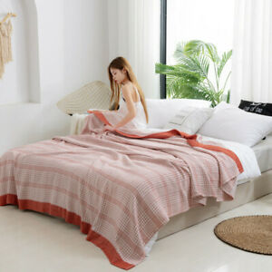Blanket Summer quilt Bed cover Flat sheet cotton & bamboo Sofa towel blanket New