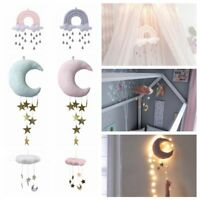 Nursery Style Moon Cloud And Star Baby Bed Mobile Hanging Room Decor Moon Doll