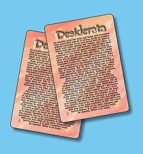 Desiderata - Poem - 2 Verse Cards -  SKU# 633