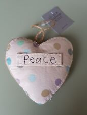 Gisela Graham natural fabric hanging padded love heart lavender scented