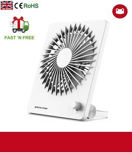 Rechargeable Portable Desk Fan 2000mah battery USB 15 Speed Quiet Stand & Hang