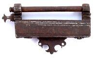Antique Rare Mughal Unique Mechanism Iron Strip System Padlock. G2-218 US