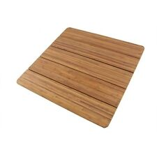 """Large Bamboo Bath Mat Shower Sauna 28"""" x 28"""" Square BambooMN"""