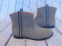 Anthropologie Fortress of Inca Women's Sofia Terra Booties Gray New Size 6.