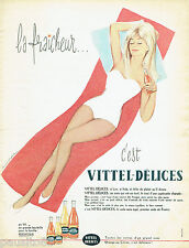PUBLICITE ADVERTISING 115  1960  VITTEL-DELICES soda bouteille 1/4