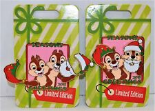 Disney 2018 Christmas Season Greetings Chip & Dale Movement 3-D Pin LE 5000 NEW
