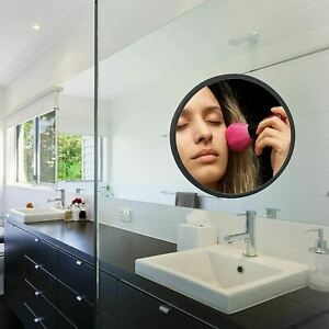 Small Wall Mirror Black Silicone Shower Mirror 7.67 Inch Small Mirror for Wall