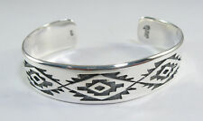 925 sterling silver cuff bracelet with  pampas design by Maria Belen