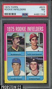 1975 Topps #623 Rookie Infielders w/ Keith Hernandez RC PSA 7 NM