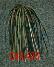 A.C.T. Lures, Punch skirts, 6 pack of Cali 420, Hand Tied custom bass tackle jig