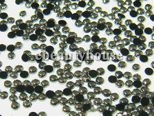 1,000 Pcs 1.5 mm Nail Art 3D Black Glitter Rhinestone #072P