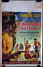 Randolph Scott : Buchanan  Rides Alone : POSTER