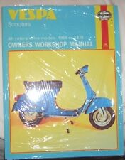 Haynes Manual VESPA Scooters all rotary valve models 1959 to 1978