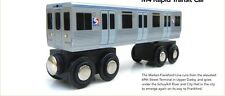 Munipals SEPTA M4 RAPID TRANSIT CAR Wooden Railway