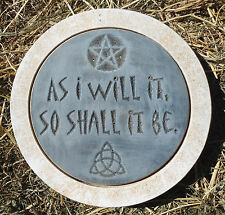 Pentagram Gothic Pagan stepping stone mold Wicca Celtic plaster concrete mould