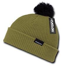 Olive Green Black Sailor Watch Skull Pom Ski Winter Beanie Beanies Cap Hat Hats