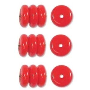 Clear Czech Pressed Glass Rondelle Beads 8x3mm 14 Beads