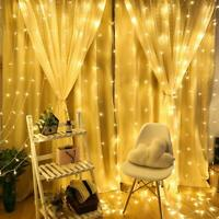 300 LED Curtain Hanging USB Powered Fairy Light Christmas / Wedding Party Decor