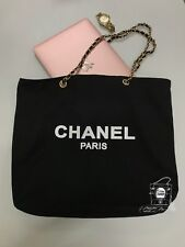 🎉CHANEL VIP Gift Canvas Tote Bag Silver/Gold Hardware SHW/GHW🎉