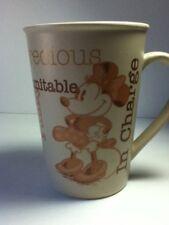 WALT DISNEY MINNIE MOUSE Tall COFFEE Tea Cocoa Cup Mug CERAMIC SASSY Precious