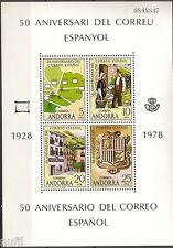 ANDORRA  Edifil # 116 ** MNH Set Aniversario Correo Español