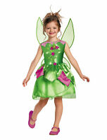 Tinker Bell Tinkerbell Fairy Classic Fairytale Disney Girls Costume