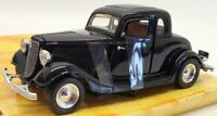 Motor Max 1/24 Scale Model Car 68017 - 1934 Ford Coupe - Black