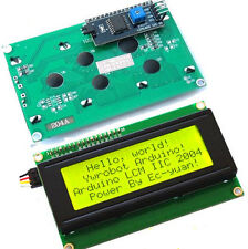 Arduino Serial IIC/I2C/TWI + 2004 Character LCD Module Display Yellow Backlight