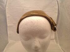 Vintage Ladies Hat Jack McConnell French Room Ellis Stone Velour Feathers NICE