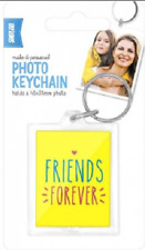 Shot 2 Go Key Chain Friends Forever Yellow Photo/Picture/Keyring/NEW
