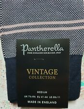 Pantherella Men's English Egyptian Cotton Socks Stripe Navy UK 7.5-9.5 RRP £14.5