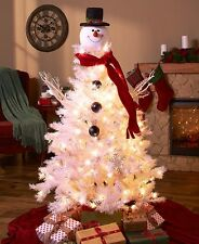 Frosty The Snowman Face Christmas Tree Topper