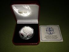 2013 Crown Siberian Cat Kitten Isle Man Silver Coin 1 Troy Ounce Box Coa *Proof*