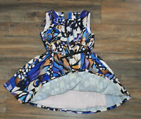 M&S Autograph Girls Stunning Pleated Dress 6-7 Years Blue mix