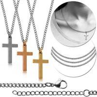 Kreuz Anhänger Mit Kette Halskette Panzerkette Königskette Unisex Kettenanhänger