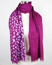 New Gucci Purple GG Guccissima Leopard Modal Scarf 325338 5272